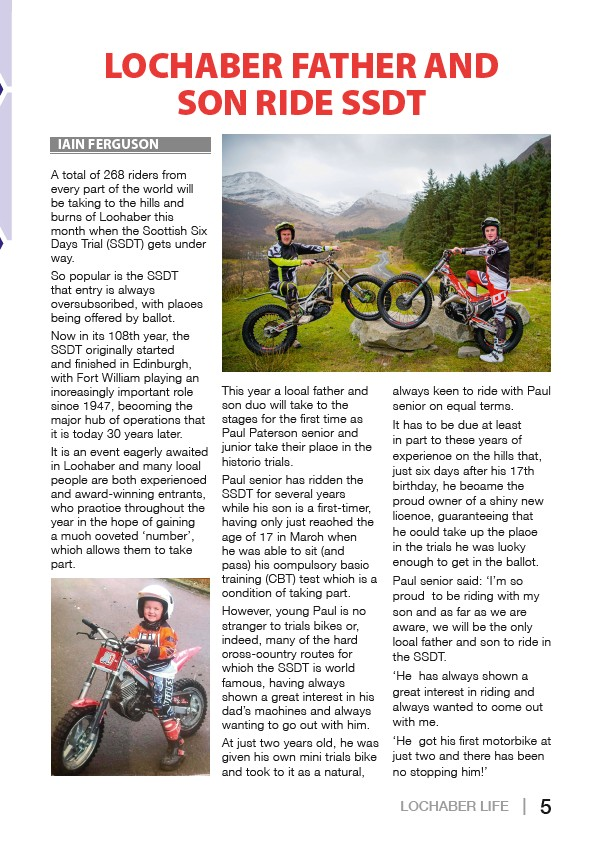 Lochaber Life May 2019 indd - Page 5